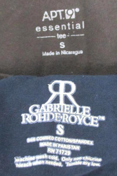 Lot Of 2 Women's Tops- Gabrielle Rohde-Royce 3/4 Sleeve Apt. 9 Long Sleeve Sz S