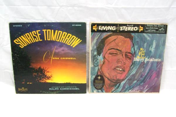 Lot Of 2 Gospels Anne Chiswell Ralph Carmichael & Harry Belafonte Vinyl Records