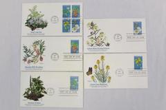Endangered Flora Set of 5 First Day Covers 1979 Hawaiian Broadbean Trillium