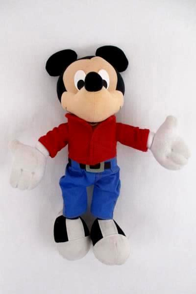 Mattel Talking Mickey Mouse Red Shirt Blue Jeans Battery Operated Plush Toy