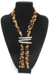 "Baltic Amber Necklace Honey Butterscotch 26g nuggets 16"" pua shells 85+ pcs"