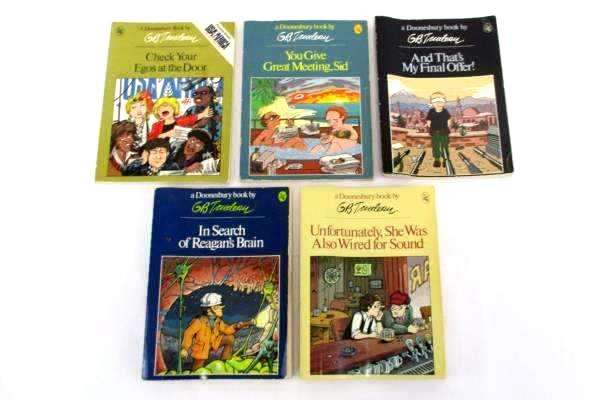 Lot of 5 Paperback GB Trudeau Doonesbury Comic Strip Books 1979-1984