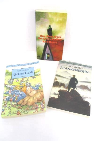 Lot of 3 Famous Fiction Literature Cuckoo's Nest Frankenstein Gulliver's Travels