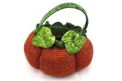 Dan Dee Fall Autumn Halloween Pumpkin Puffy Basket Orange Holiday Home Decor