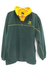 Men's University Oregon Ducks U of O Green 1/4 Zip Pullover Fleece Jacket Medium