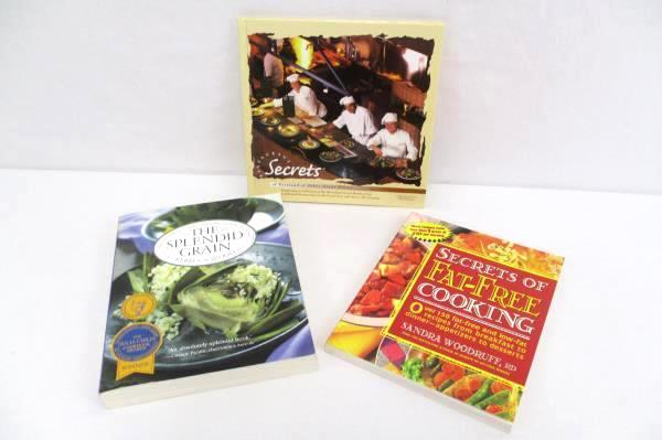 Lot of 3 Cookbooks Restaurant Secrets Splendid Grain Secrets of Fat-Free Cooking