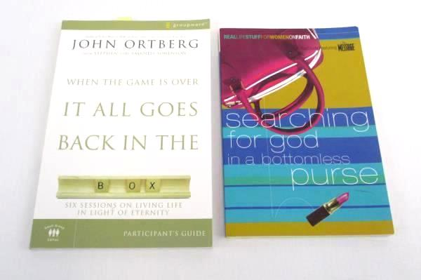 2 Lot PB Books Searching for God Bottomless Purse & When the Game is Over it...