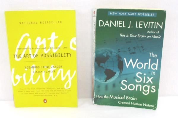 2 Paperback Books The Art of Possibility Zander & The World in Six Songs Levitin