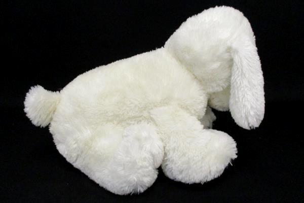White Puppy Dog Bag Sitting Plush Chosun International