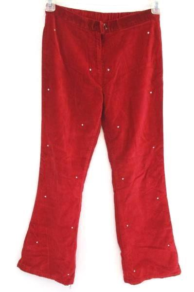 Girls Fleece Red Pants w/ Rhinestones Lined Size 14 The Children's Place