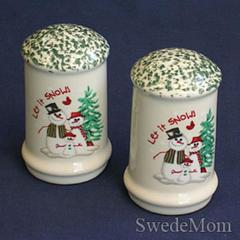 Atico International Salt & Pepper Shakers Set 1998 Let it Snow