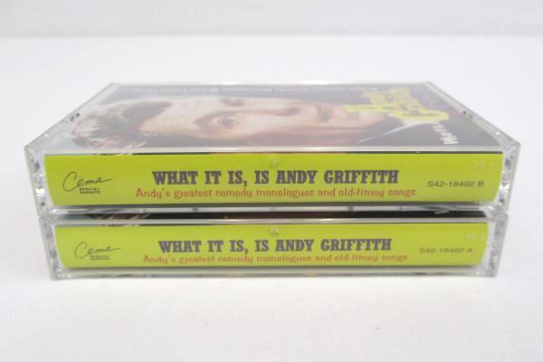 Andy Griffith Andy's Greatest Comedy Monologues & Old-Timey Songs 2 Cassettes