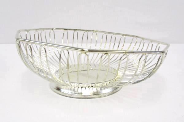 Davco Silver LTD Octagon Basket 7147 NIB New Fruit Counter Top Decor