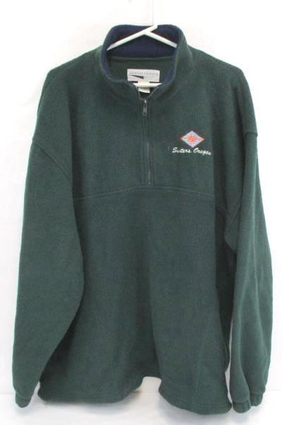 Green Blue Fleece Pullover Sweater Sisters Women XXL Central Oregon Souvenir
