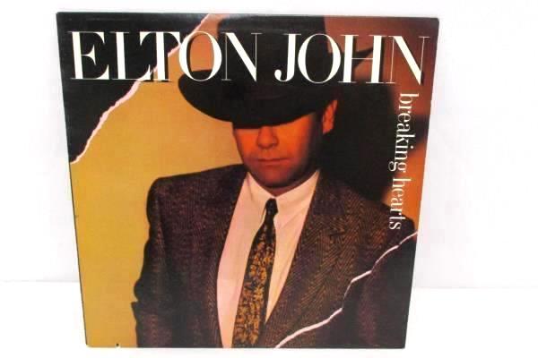 Elton John Breaking Hearts Vinyl Lp Geffen Records 1984 GHS 24031