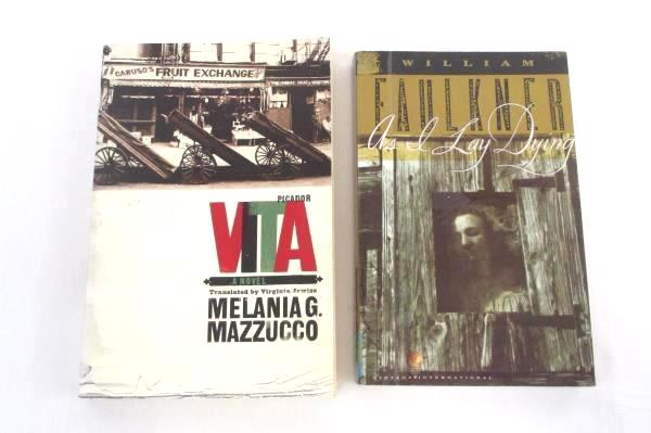 Lot of 2 Paperback Books As I Lay Dying W. Faulkner & VITA Melania G. Mazzucco
