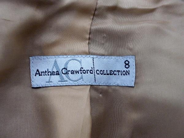 ANTHEA CRAWFORD COLLECTION Black Professional Jacket Top 100% Wool Blazer Sz 8