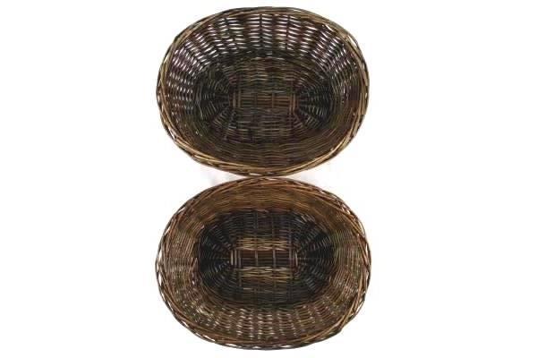 Lot of 4 Assorted Baskets Brown Tan Wicker Bushel Fruit Linen Display