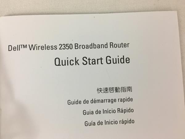 Dell Wireless 2350 Broadband Router