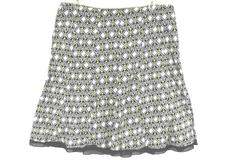 Women's Plus Style & Co.A-Line Black White Yellow Skirt Geometric Pattern Sz 18