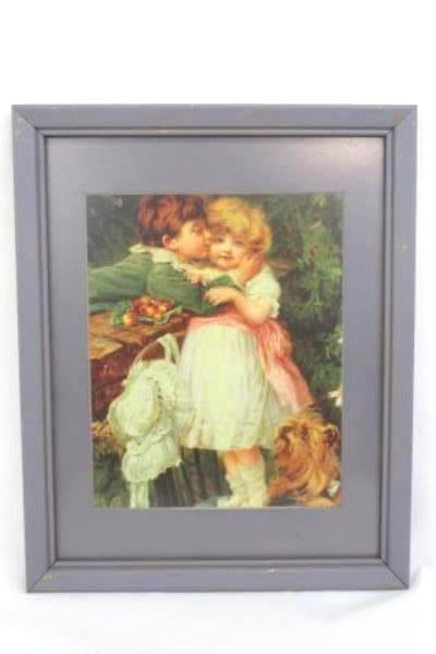 Framed Portal Publication Lithograph Copyright 1995 Wooden Frame 15.5 inch