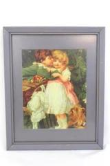 Framed Portal Publication Lithograph Copyright 1995 Wooden Frame 15.5 inch