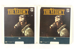 SelectaVision CED Disc Movie The Verdict Parts 1 and 2 CBS Fox Rated R 128 min