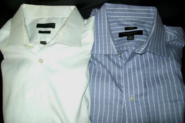 Lot of 2 Pronto Uomo and Calvin Klein Men's Button Up Long Sleeve Shirts XL