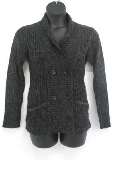 Women's Carol Rose Knit Sweater Cardigan Gray W/ Pockets Size Medium