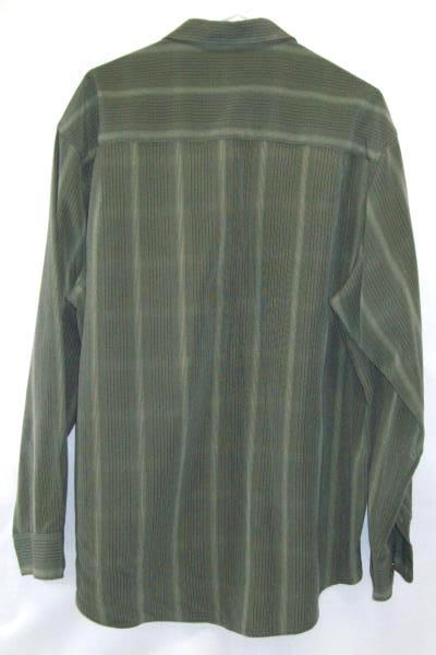 Haggar Est 1926 Men's Long Sleeve Button Up Luxury Microfiber Size Extra Large
