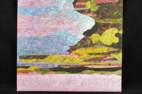 """Abstract Lithoprint Canvas Frameable Ripples Waves Blues Pinks Light 15"""" x 20"""""""