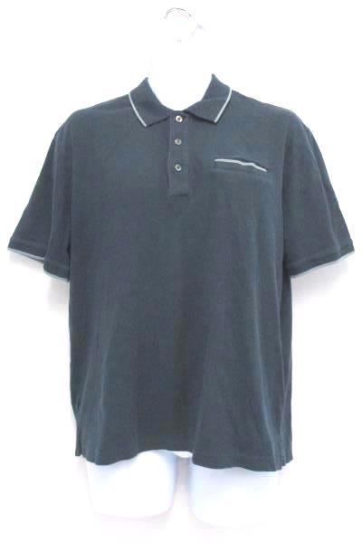 Solid Blue Polo Shirt Van Heusen Studio Slim Fit 100% Cotton Men's Large