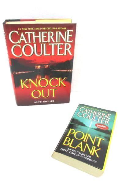2 Catherine Coulter Books Knock Out Hardcover Point Blank Paperback Suspense