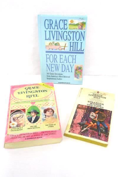 3 Grace Livingston Hill Books Inspirational Reader Romance Novels Paperback Hard