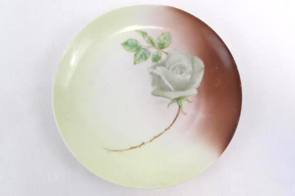 Lot of 2 Hand Painted Plates Norma Beauty Rose DeWitt La Lufadora Mexico