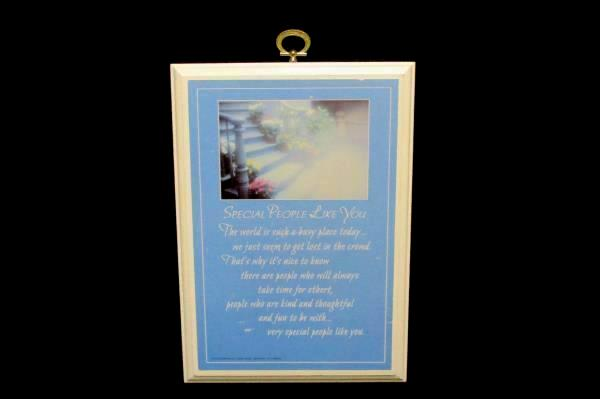 """Hallmark 1986 """"Special People Like You"""" Wood Plaque Photographed At Disneyland"""