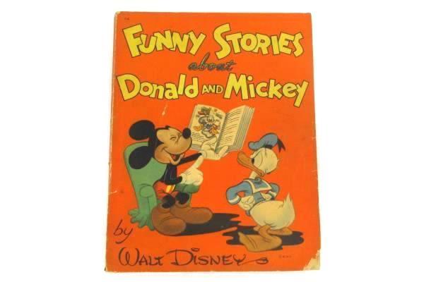 2 Whitman Paperback Vintage Children's Books Funny Stories Donald Mickey Bedtime