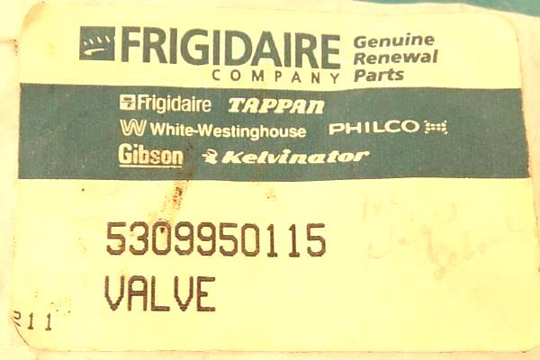 Frigidaire Valve Part Number 5309950115 NOS