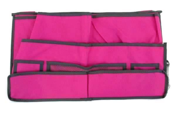 Lot of 4 Behind Car Seat Hanging Closet Multi Pocket Storage Organizer Pink Teal