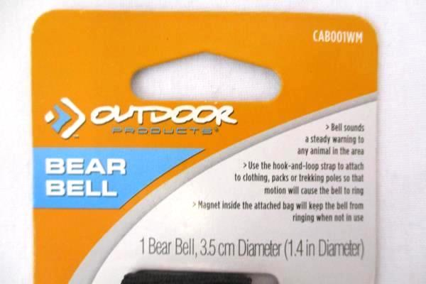 Lot of 2 New Outdoor Product Bear Bell # CAB001WM-000