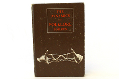 Dynamics of Folklore Barre Toelken Hardcover Book Houghton Mifflin 1979