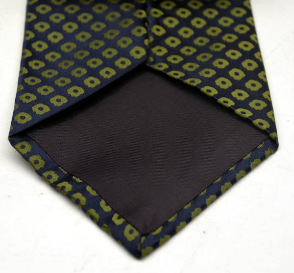 GIANFRANCO RUFFINI Green and Blue 100% Pure Silk Neck Tie, Made in USA