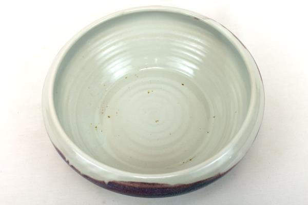 Bruning Studio Pottery Blue Purple Cream Bowl Large Seattle Pacific Northwest
