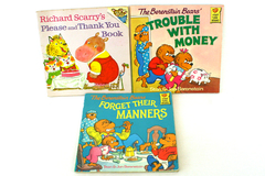 Lot of 3 Paperback Books Berenstain Bears and Richard Scarry Manners and Money