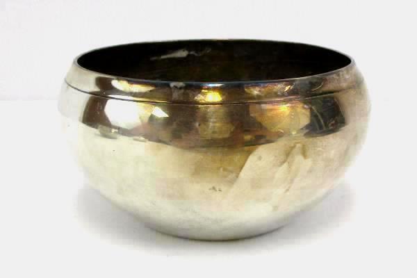 2 Vintage Silver Dipped Copper BOWLS 1 Napier Silent Butler Crumb Catcher Lidded