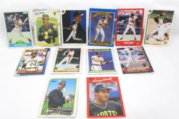 Lot of 12 Barry Bonds Trading Cards Post Collectors Series Topps All Star
