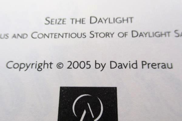 Seize the Daylight by David Prerau Science/History Novel 2005