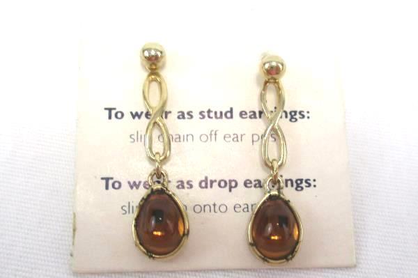 2 Vintage Avon Jewelry Floral Cameo Broach Pin Versatile Drop or Stud Earrings