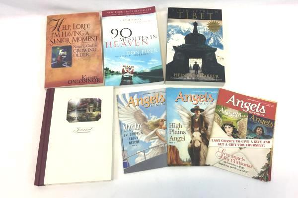 Lot Of 7 Religious Christianity BOOKS Seven Years Tibet 90 Min Heaven Journal