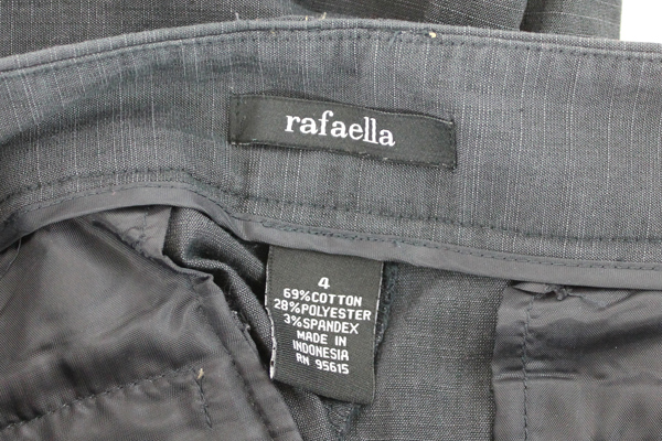 Women's Rafaella Charcoal Gray Casual Dress Pants Trouser Sz 4